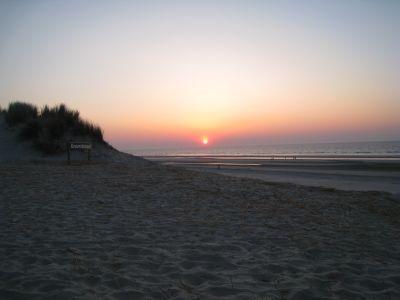 zonsondergang bij paal 15